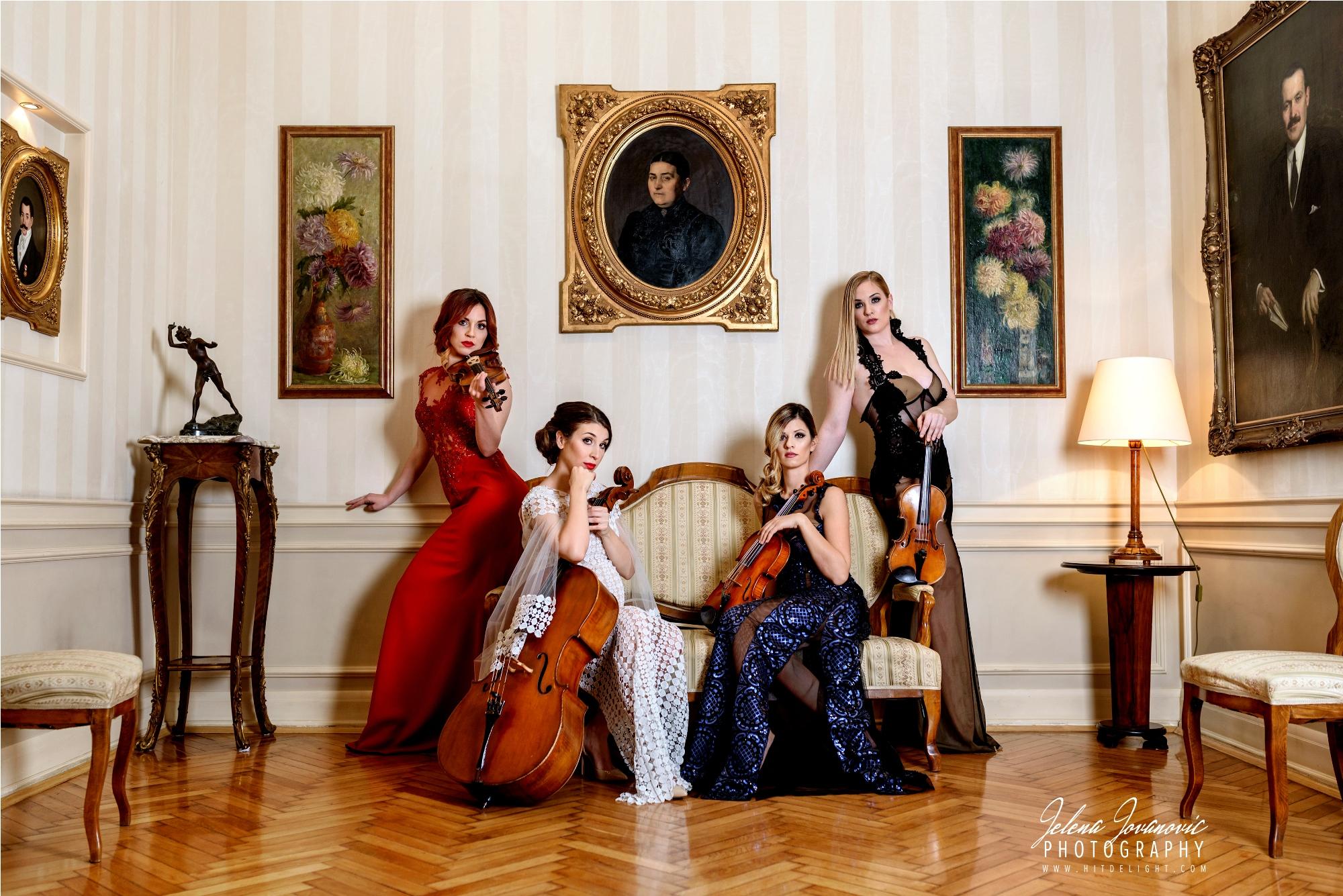 Marija Sabic, Gudacki kvartet, elegantne haljine, muzika za vencanja